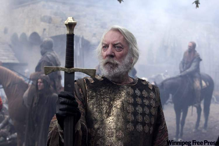 Donald Sutherland stars in CBC miniseries The Pillars of the Earth.