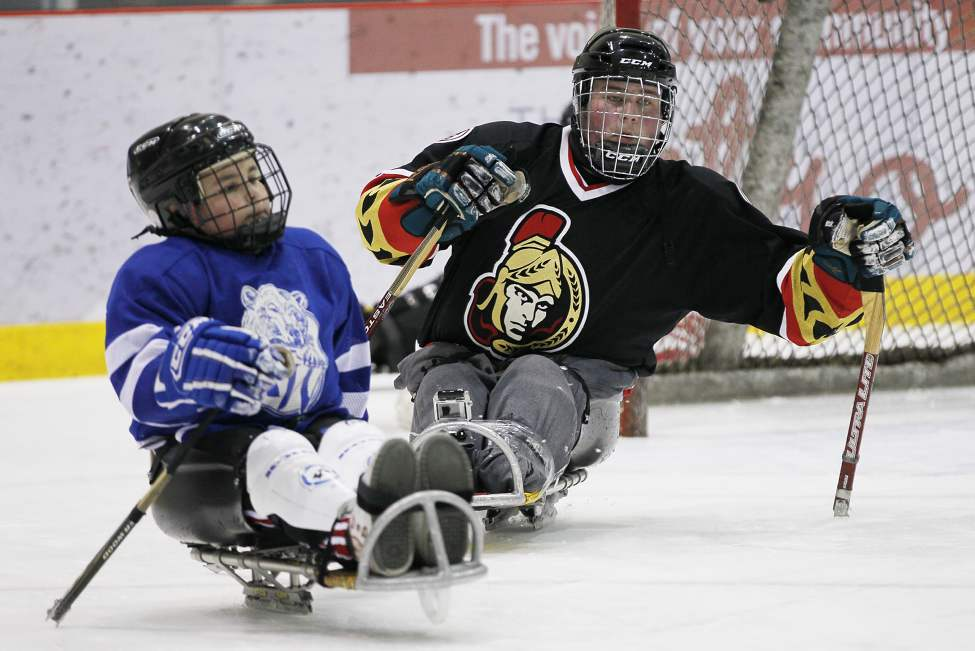 Sledge hockey is tricky, Cole discovered. Yes, you need hockey skills and smarts, which he has in spades, but maintaining his balance was challenging.