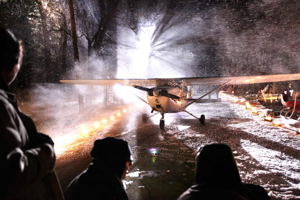 A plane lands on Assiniboine Avenue in a snow storm! That's the premise for the movie