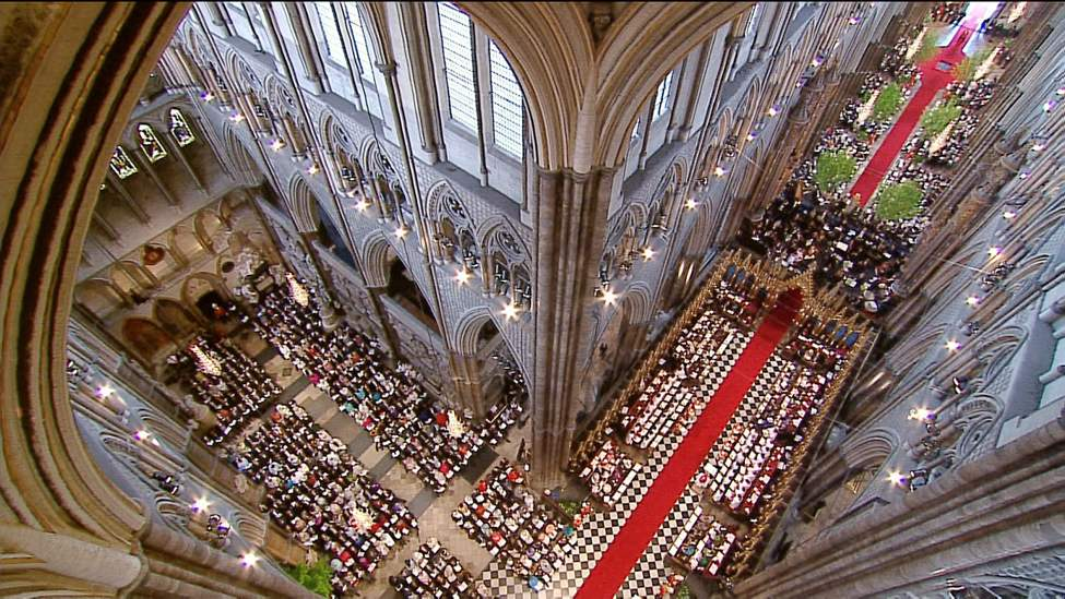 In this image taken from video, an interior view of Westminster Abbey during the Royal Wedding in London on Friday, April, 29, 2011. (AP Photo/APTN)  (CP)
