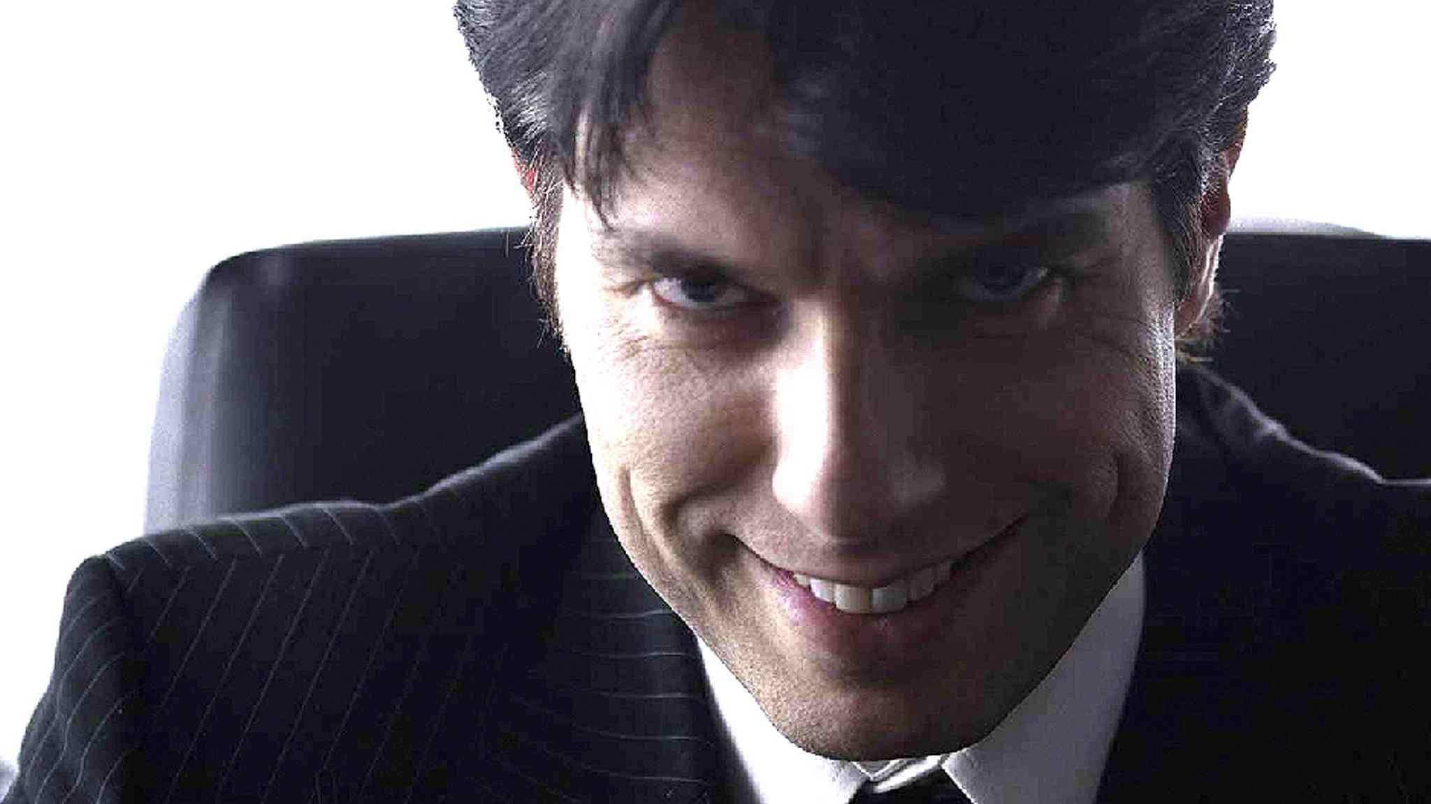 Geoff Banjavich in a still from his performance as the psychopath.