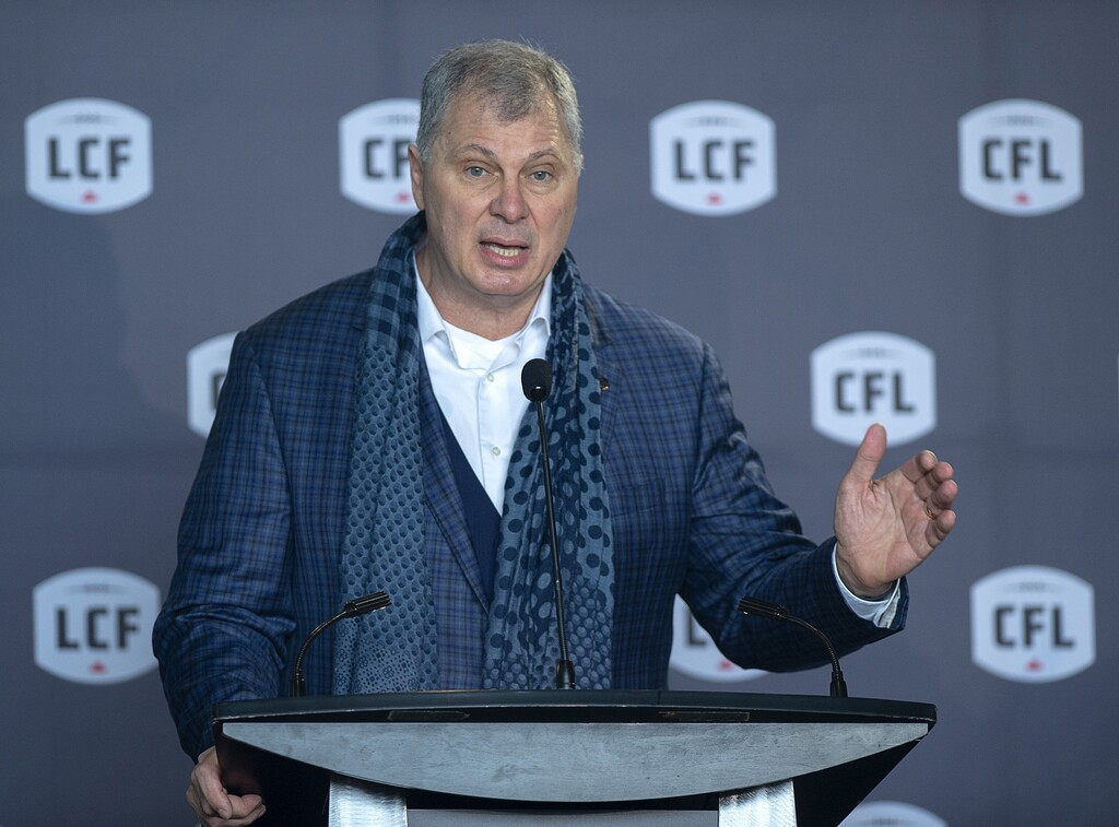 CFL commissioner Randy Ambrosie doesn't want any games cancelled this season because of COVID. (Andrew Vaughan / The Canadian Press files)