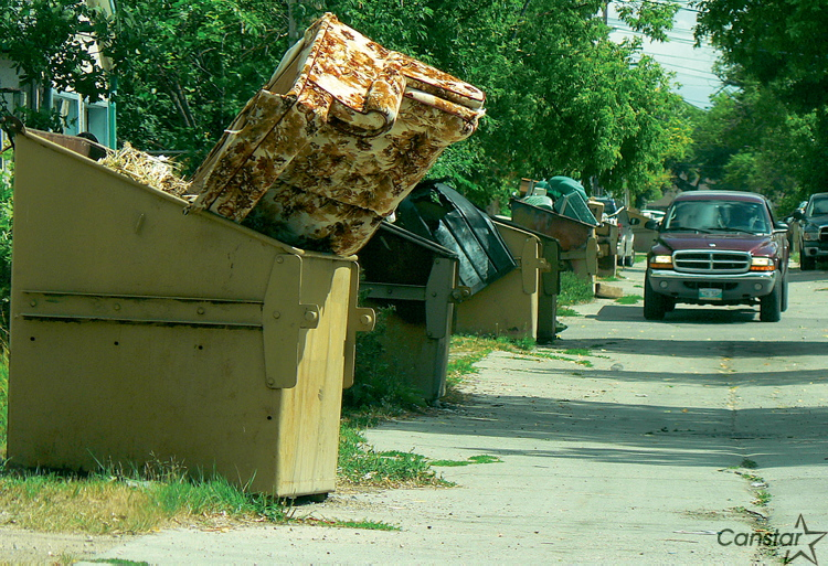 The city has already targeted garbage accumulations in the North End and the Spence neighbourhood.