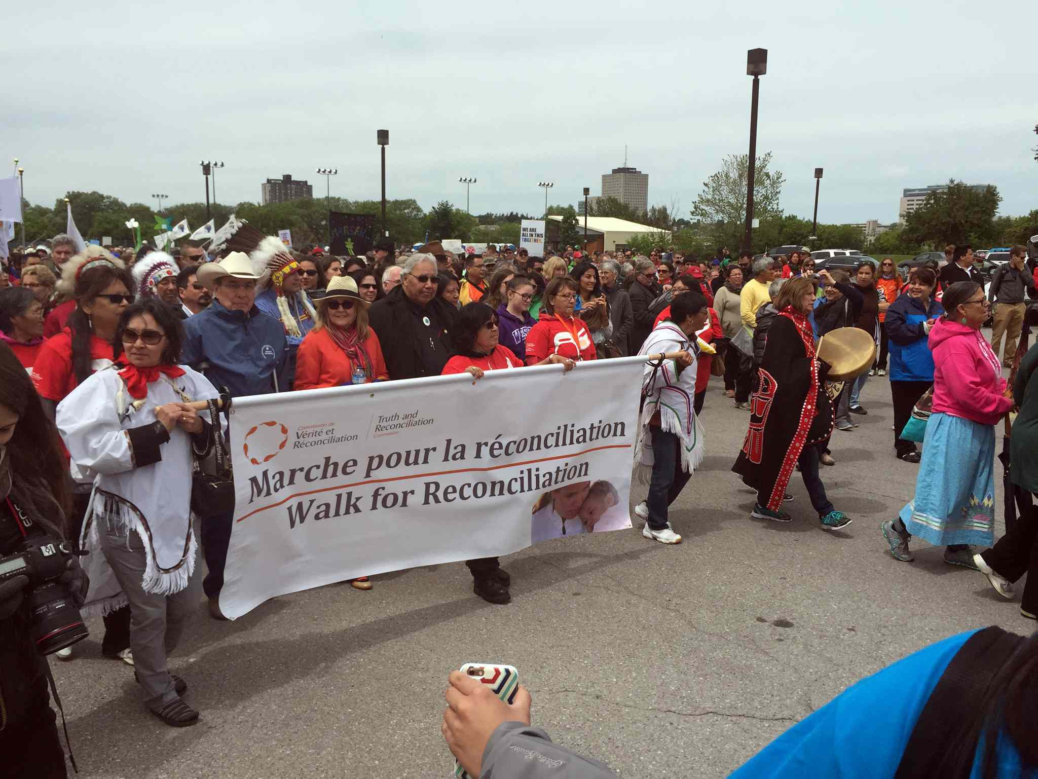 An estimated 10,000 people participated in the symbolic Walk for Reconciliation in the nation's capital.