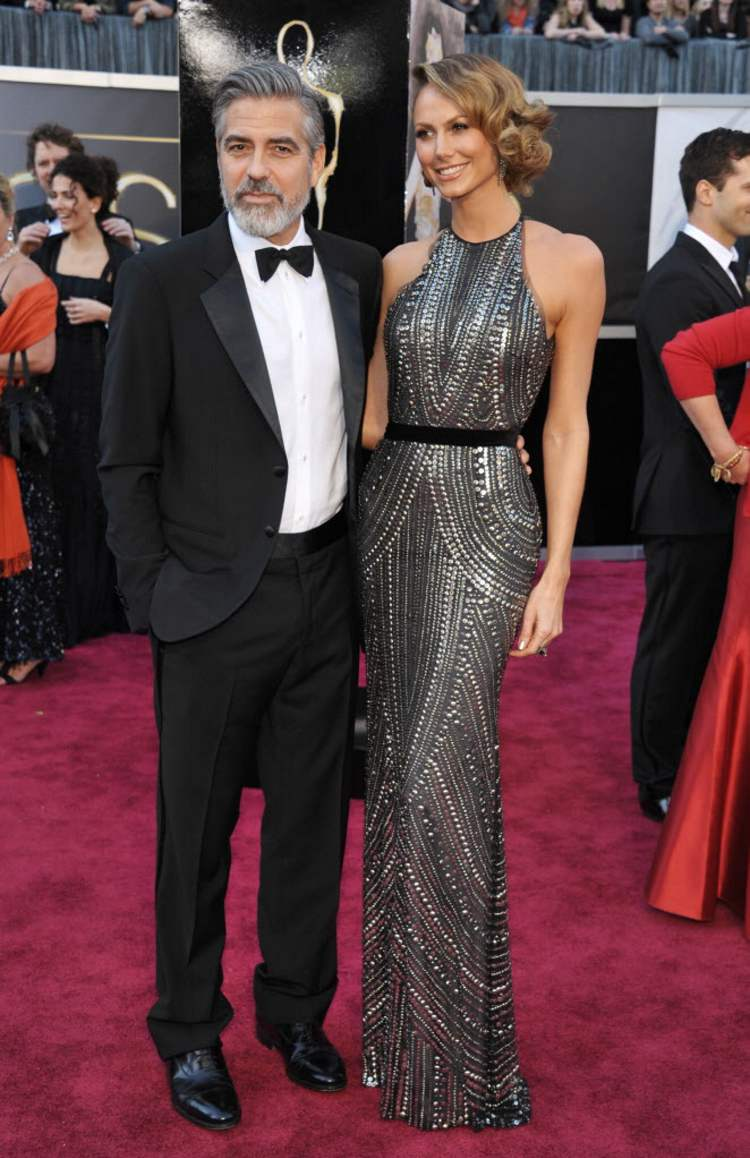 George Clooney, left, and Stacy Keibler. (John Shearer/Invision/AP)