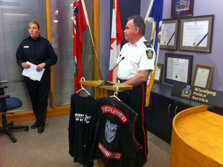Winnipeg Police display items from a series of raids under Project Flatlined.