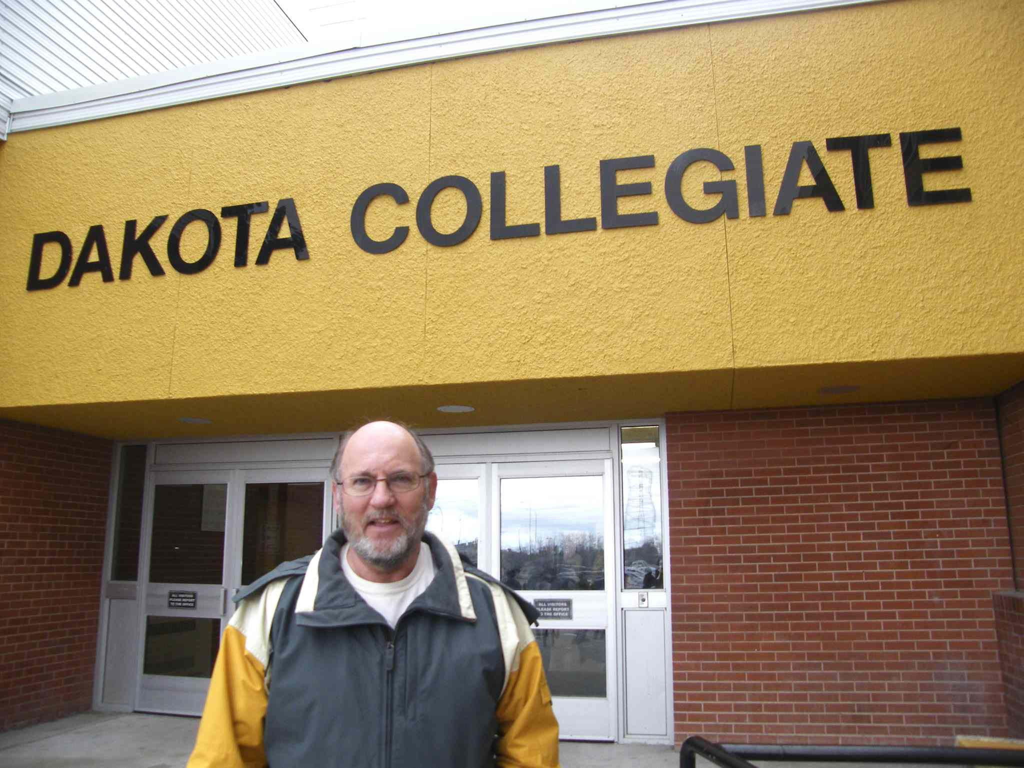 John Hindle, pictured outside Dakota Collegiate, is looking forward to the various celebrations lined up to mark the school's 50th reunion.
