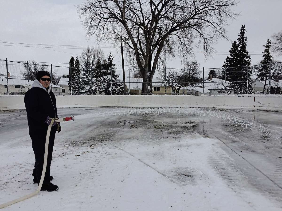Longtime North Kildonan Community Centre caretaker Terry Stafeckis, pictured here in 2016, has gained a reputation for his work ethic and fine icemaking skills over his 36-year career. This fall, Stafeckis is set to retire. (SHELDON BIRNIE/CANSTAR/THE HERALD)