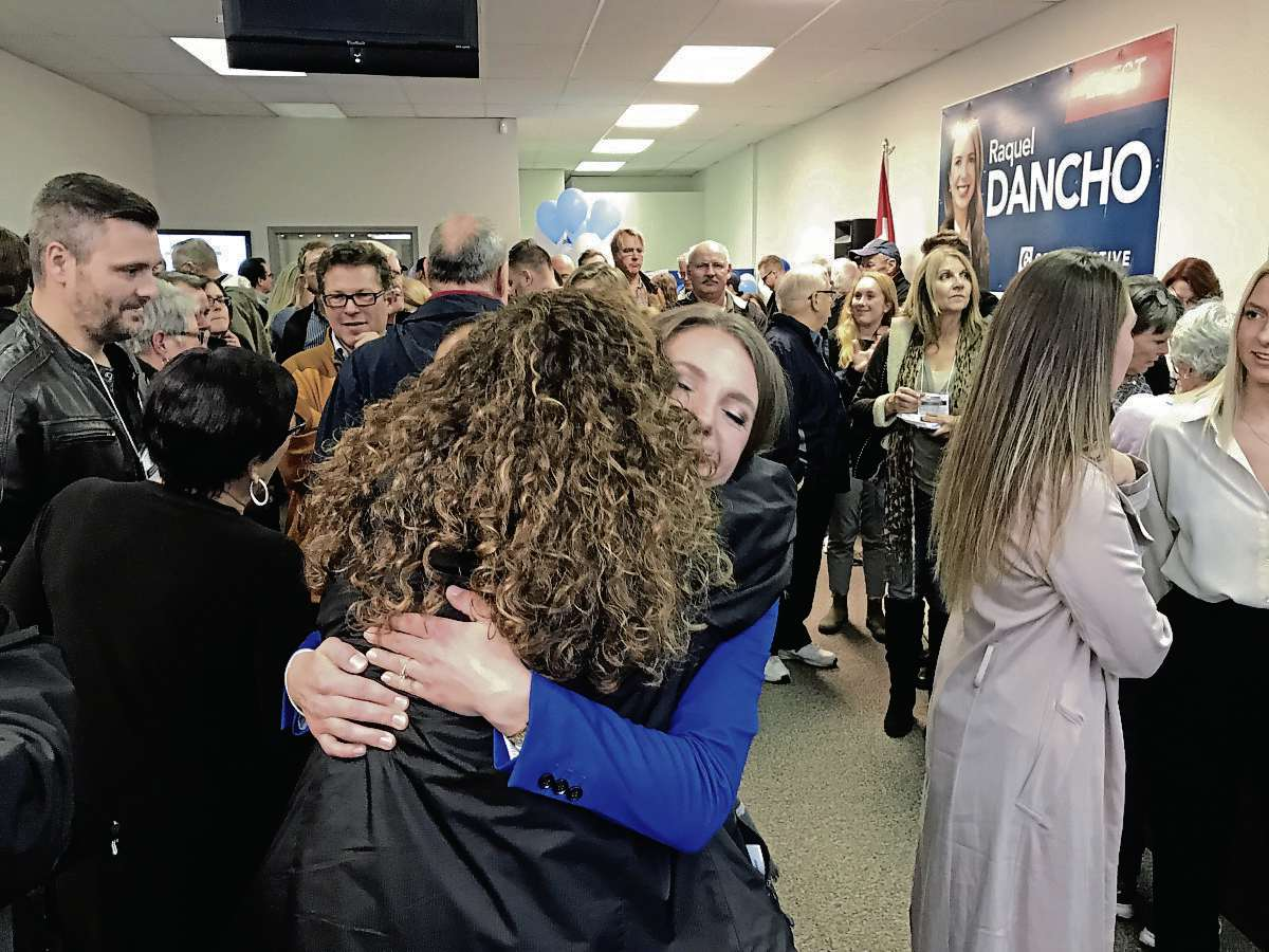 Conservative candidate Raquel Dancho thanked supporters, family, and friends after she was elected Member of Parliament for Kildonan-St. Paul. Dancho, 29, unseated incumbent Liberal MP MaryAnn Mihychuk. (SHELDON BIRNIE/CANSTAR/THE HERALD)