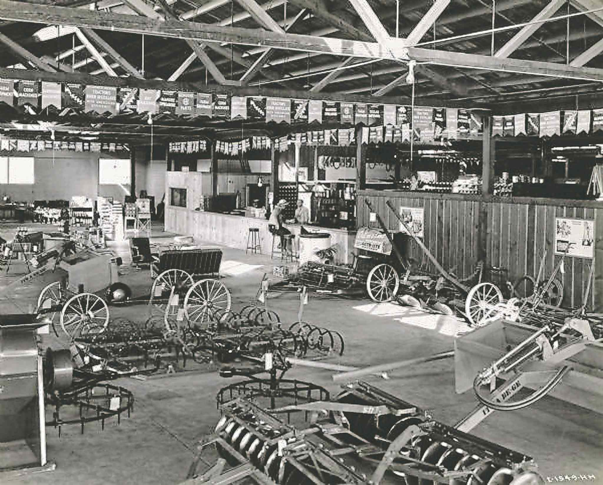 Inside the Moline Tractor Company showroom on Riverton Ave., circa 1944.  (SUPPLIED)