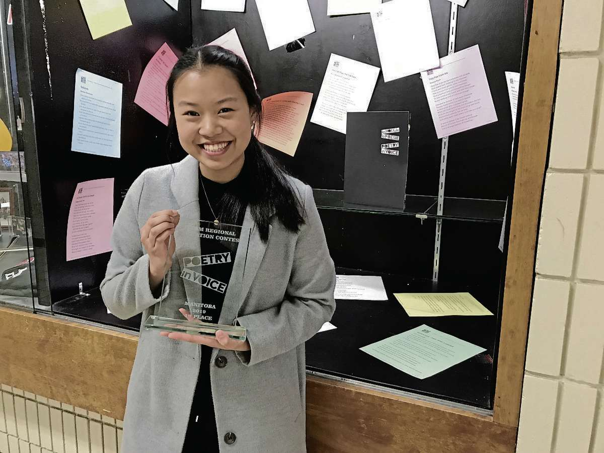 Nina Thach, a Grade 12 student at Kildonan East Collegiate, will be one of 12 students from across Canada who will compete in the English stream of the national Poetry in Voice semifinals on April 24 at the Winnipeg Art Gallery. (SHELDON BIRNIE/CANSTAR/THE HERALD)