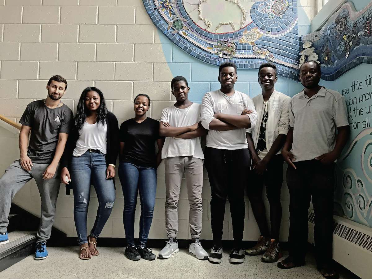 Congo Canada's summer program at Elmwood High School employs a staff of former students and teachers in training, and also relies on volunteers from the community. (SHELDON BIRNIE/CANSTAR/THE HERALD)