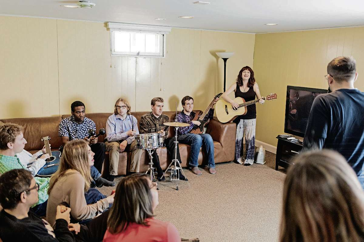 The young adults who participate in the GROW program have social and intellectual disabilities. For the past two years, this group worked with White to write and record four original songs. The record, Where to Grow From Here, was released on June 19 and is now available on CD and online for free.