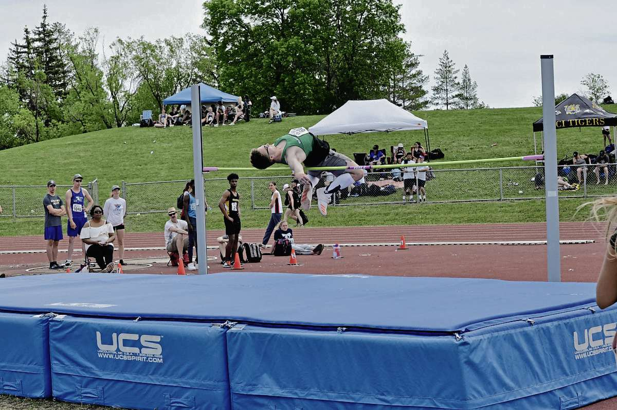 Murdoch MacKay's Preston Kull finished first in boys varsity high jump and won silver in the outdoor pentathlon at the provincial high school track meet this year.