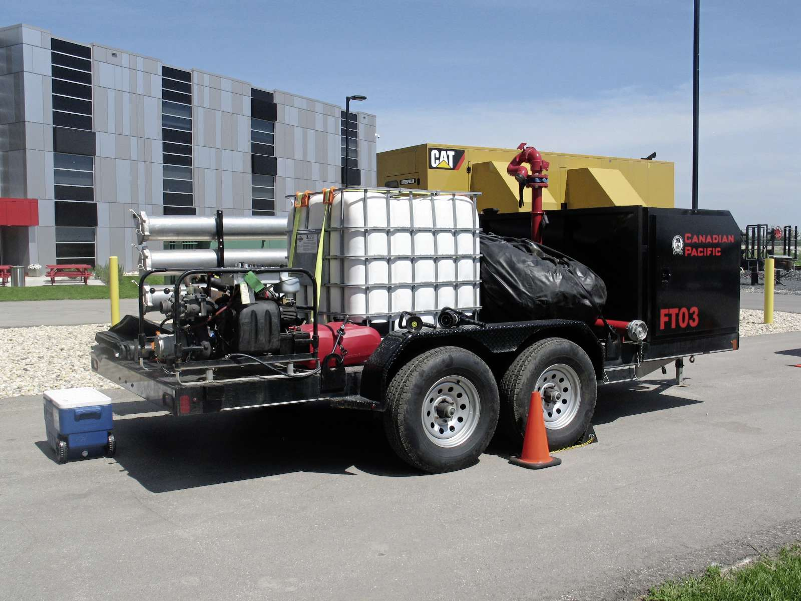 A fully functional CP firefighting trailer. Over 100 railway workers and first responders took part in a TRANSCAER training event at the CN Campus, Transcona Yard this year. (SHELDON BIRNIE/CANSTAR COMMUNITY NEWS/THE HERALD) (SHELDON BIRNIE)