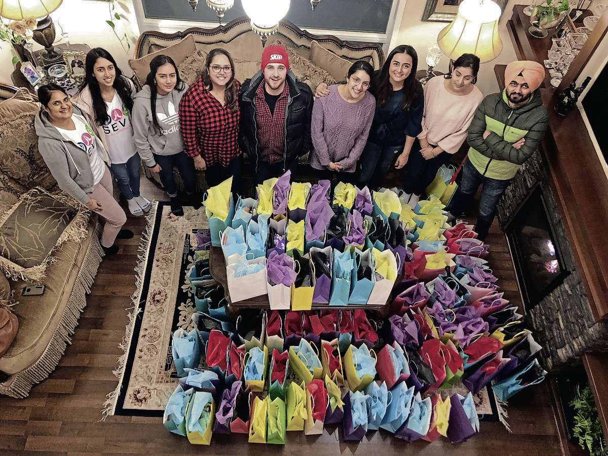 Volunteers put together over 100 care packages for local women's shelters this Valentine's Day.