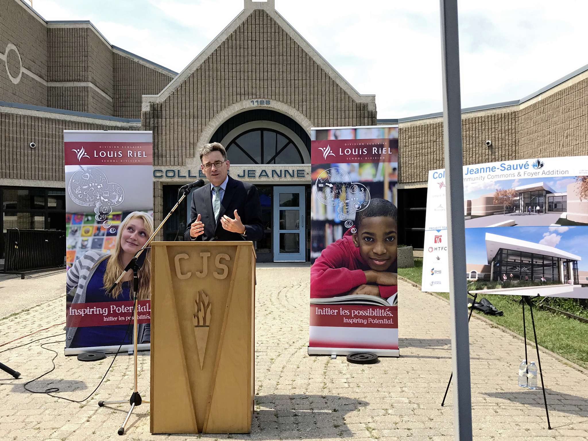 Coun. Brian Mayes (St. Vital) pictured on June 21 at College Jeane-Sauve.
