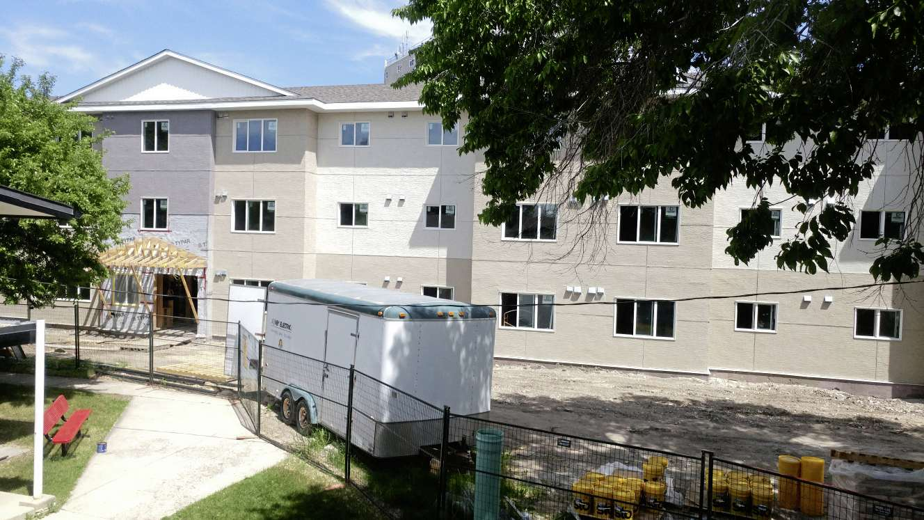 The new 45-suite affordable housing unit is located adjacent to the organization's other three buildings at 30 Chesterfield Ave. in St. Vital.