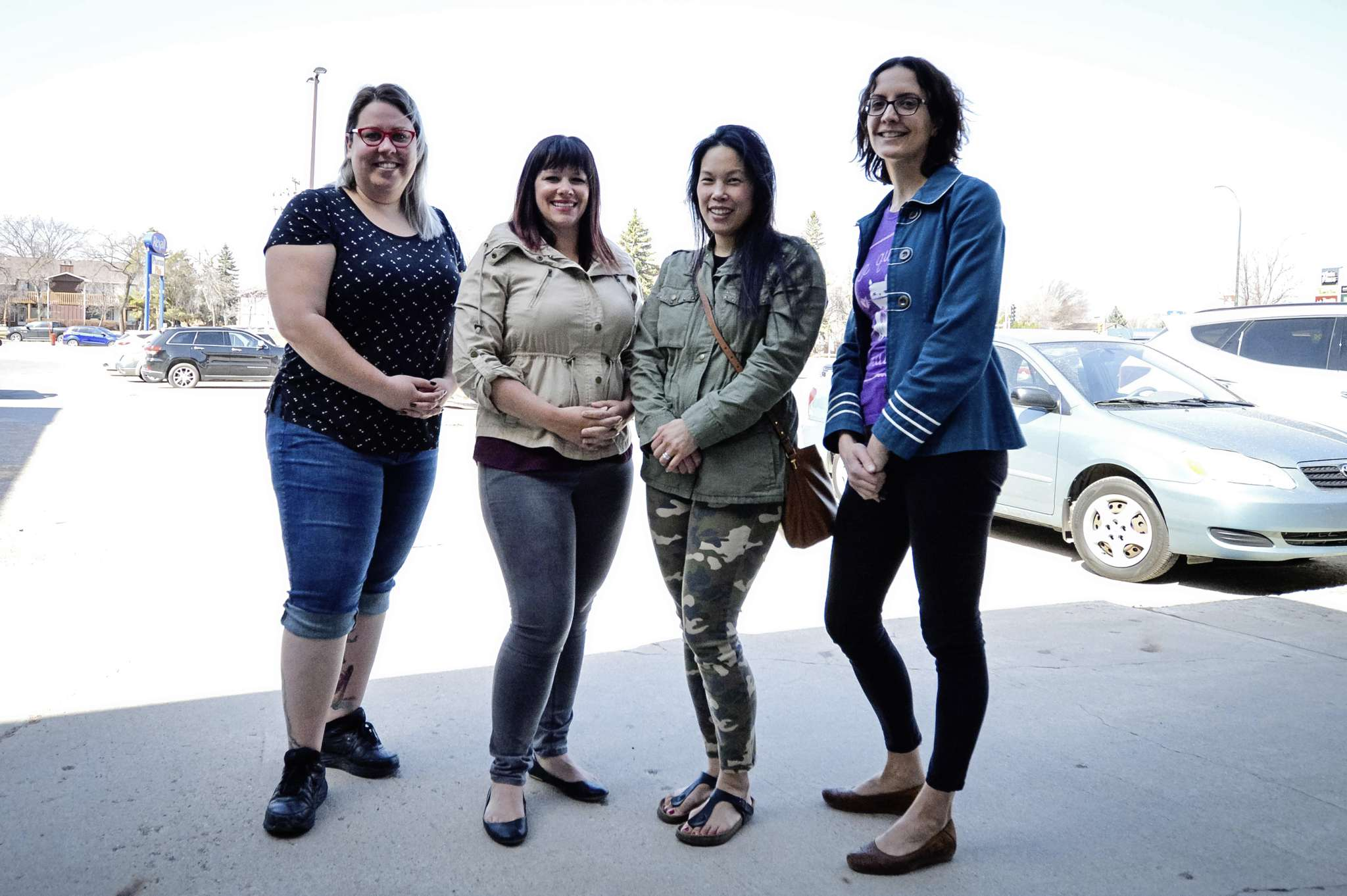 Members of the RPSCA board. From left to right: Andrea Danelak, communications director; Nicole Hacault, volunteer director; Eva Trachtenberg, special events director; and Josée-Anne Le Dorze, chair. Missing: James Stefishen, fundraising director, and Dave Rheault, treasurer.