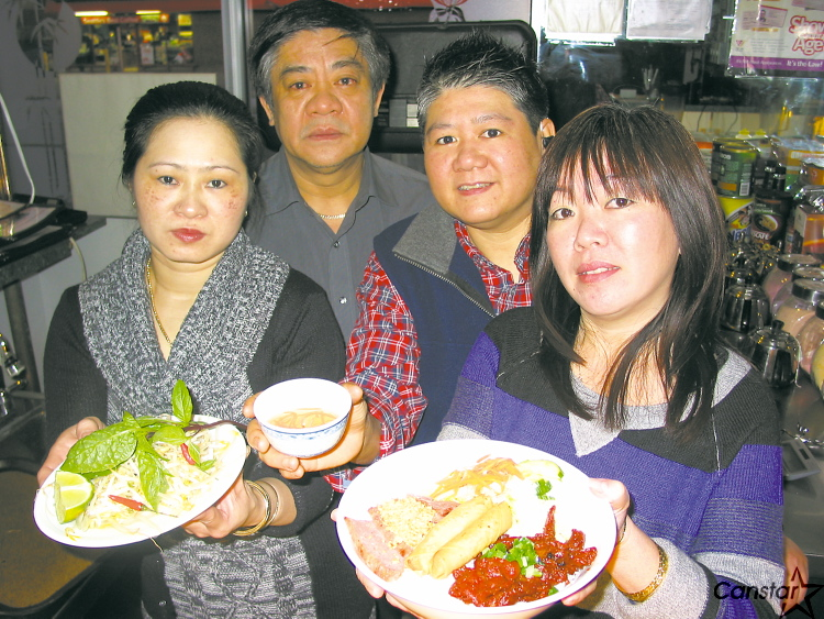From left to right: Thao dang (chef), Bac Bui (owner), Leslie Tu (former chef and Bui's  interpreter and Trinh Diep (server) at Vi-Ann Restaurant in Osborne Village.