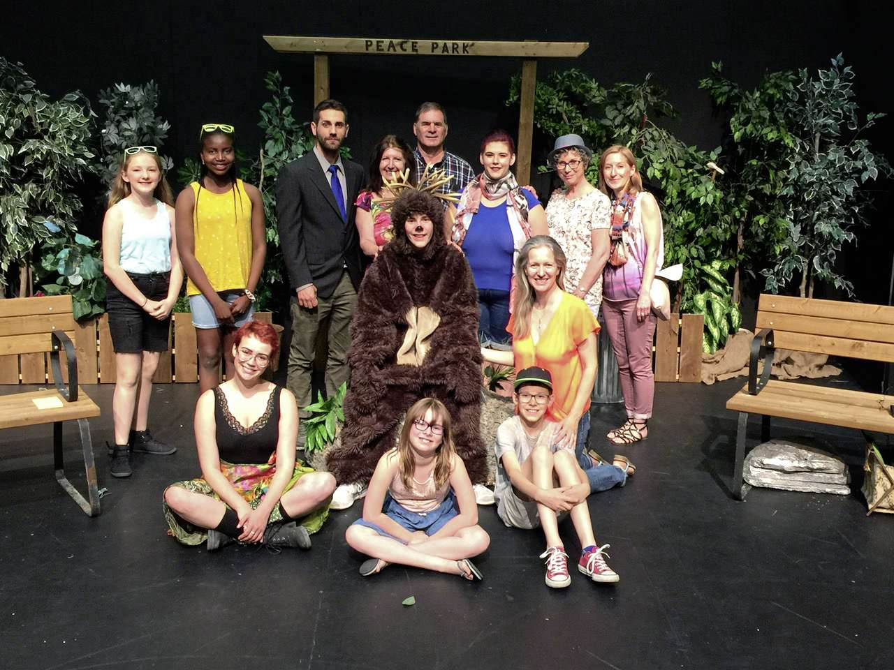 The cast and crew of Spikey's Points is pictured here.
