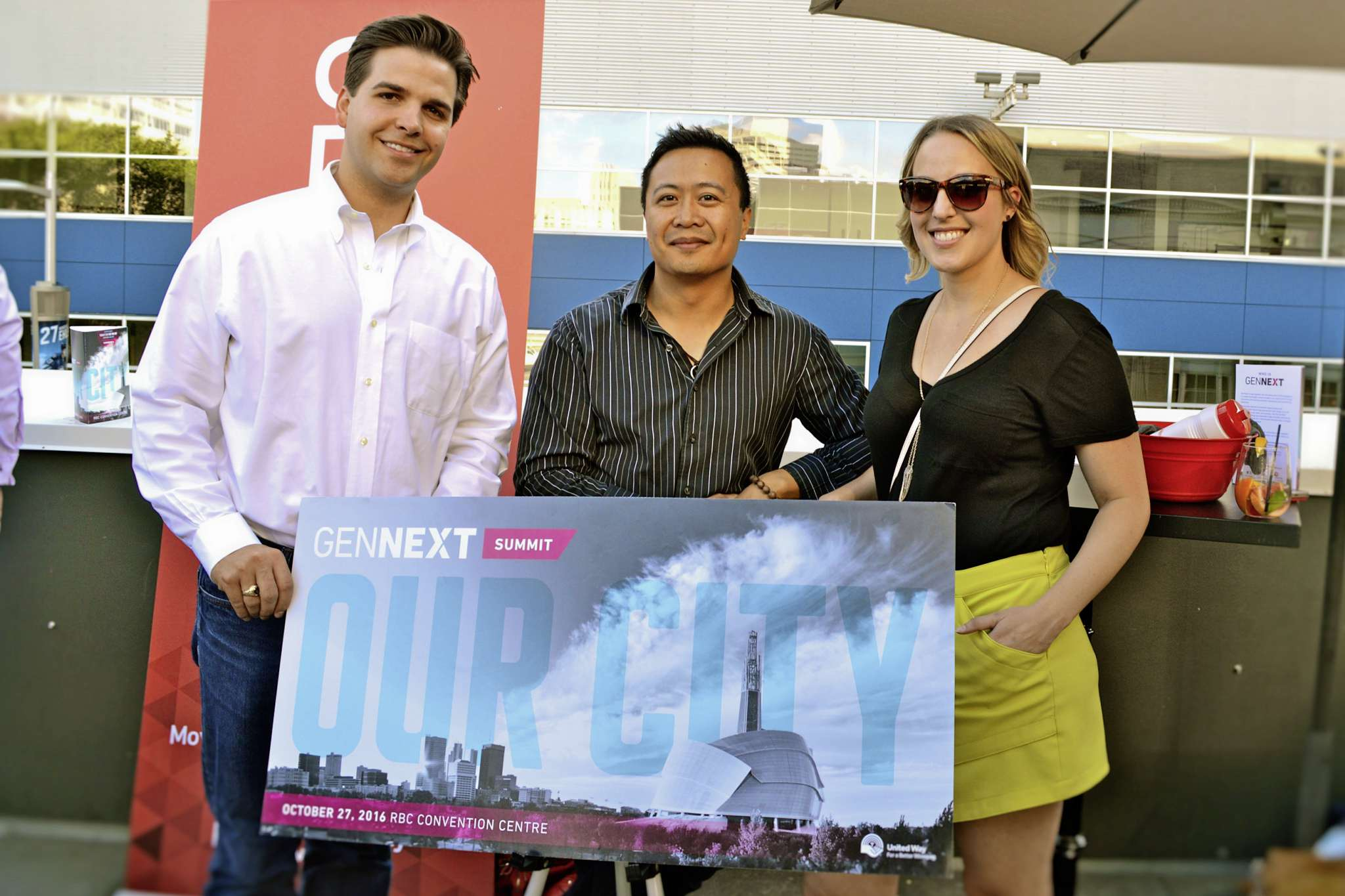 From left: Adam Smoluk, Paul Lacap, and Jane Helbrecht are all looking forward to the upcoming GenNext Summit, which will be held on Oct. 27.