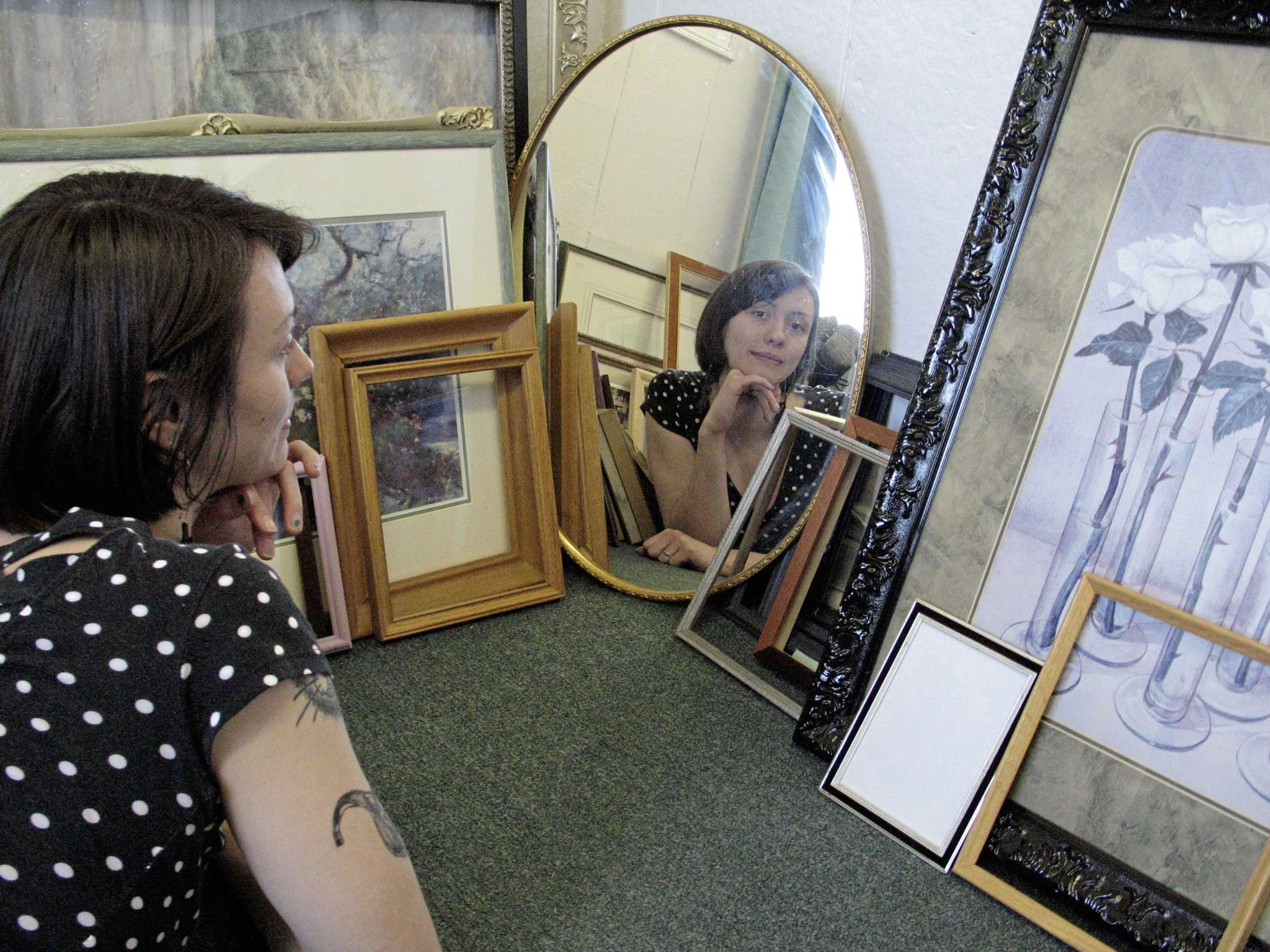 Bev — a.k.a. Lizzy Burt — is the owner and operator of Bevvy Teyems' Custom Picture Framing. (SIMON FULLER/CANSTAR NEWS/THE LANCE)