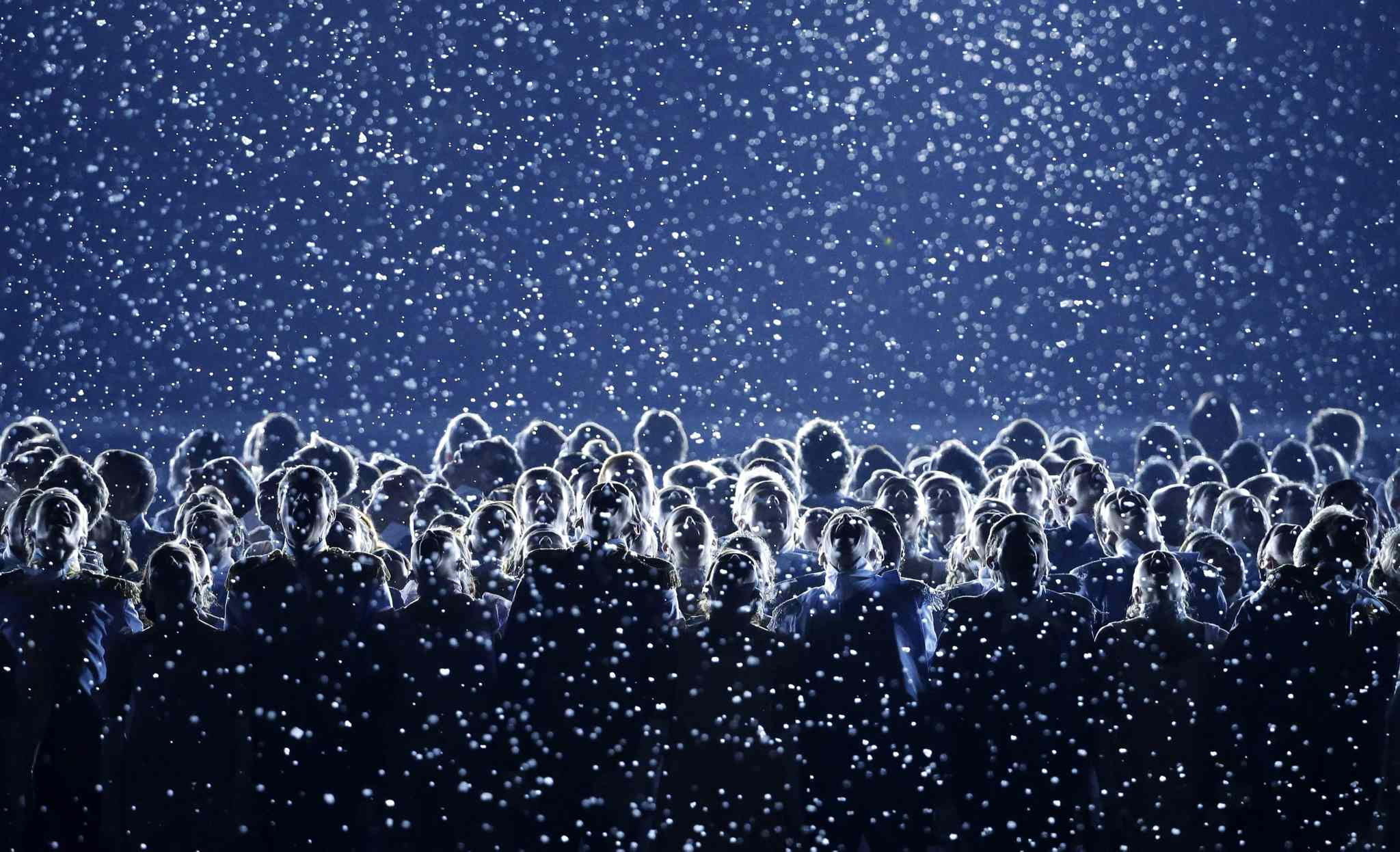 Artists perform during the opening ceremony of the 2014 Winter Olympics in Sochi, Russia, Friday, Feb. 7, 2014. (AP Photo/Mark Humphrey)