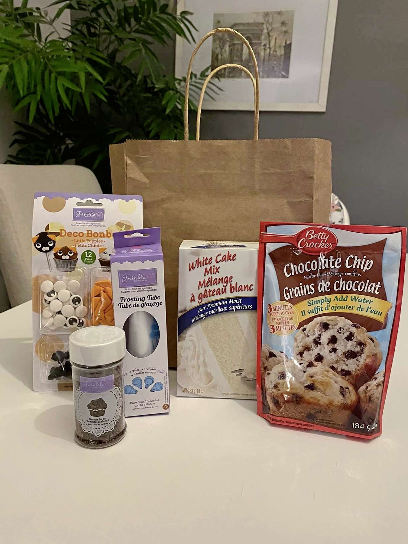 Home baking kit put together by one of the members of the Buy Nothing North River Heights group on Facebook.