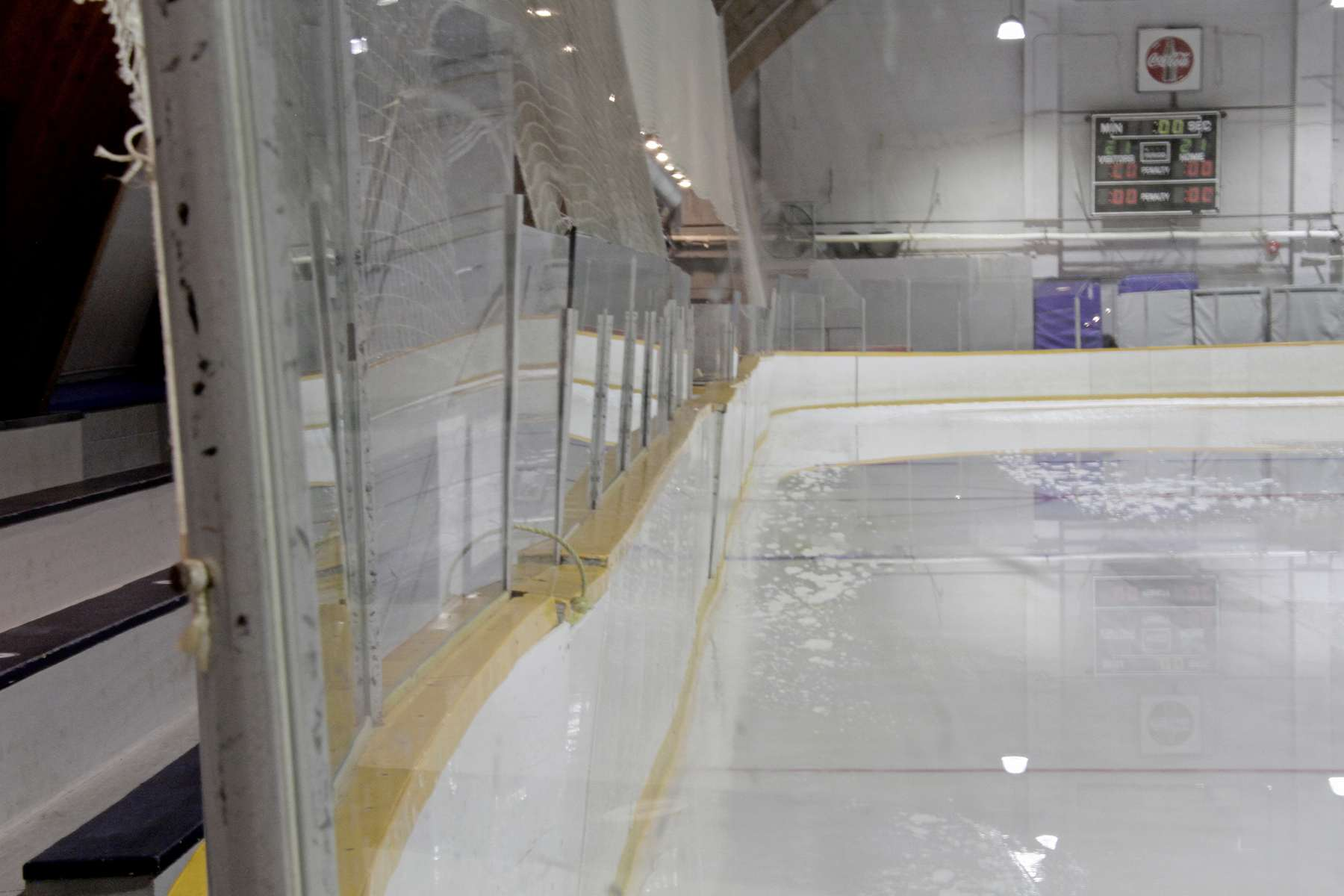 The dasher boards around the indoor rink at River Heights Arena need to be replaced.