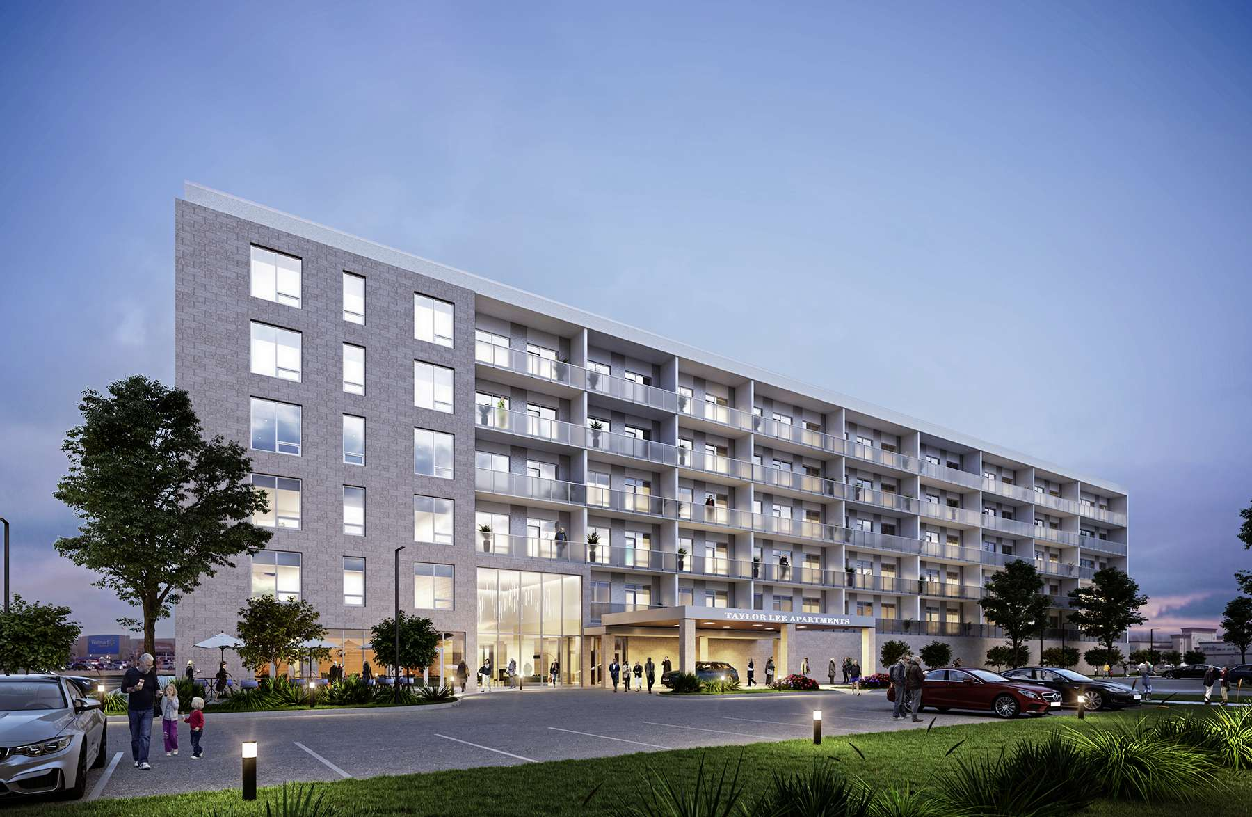 Artist's drawing of one of the Taylor Residences apartments. The ground was broken on Aug. 11 for the Taylor Claire, being built by Shindico Realty.