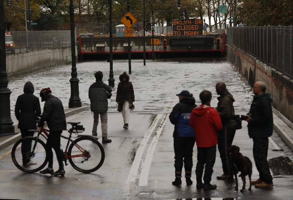 The Battery Park Underpass was completely flooded by the storm, Tuesday, October 30, 2012. Hurricane Sandy caused major damage to New York City and surrounding areas.  (Carolyn Cole/Los Angeles Times/MCT)