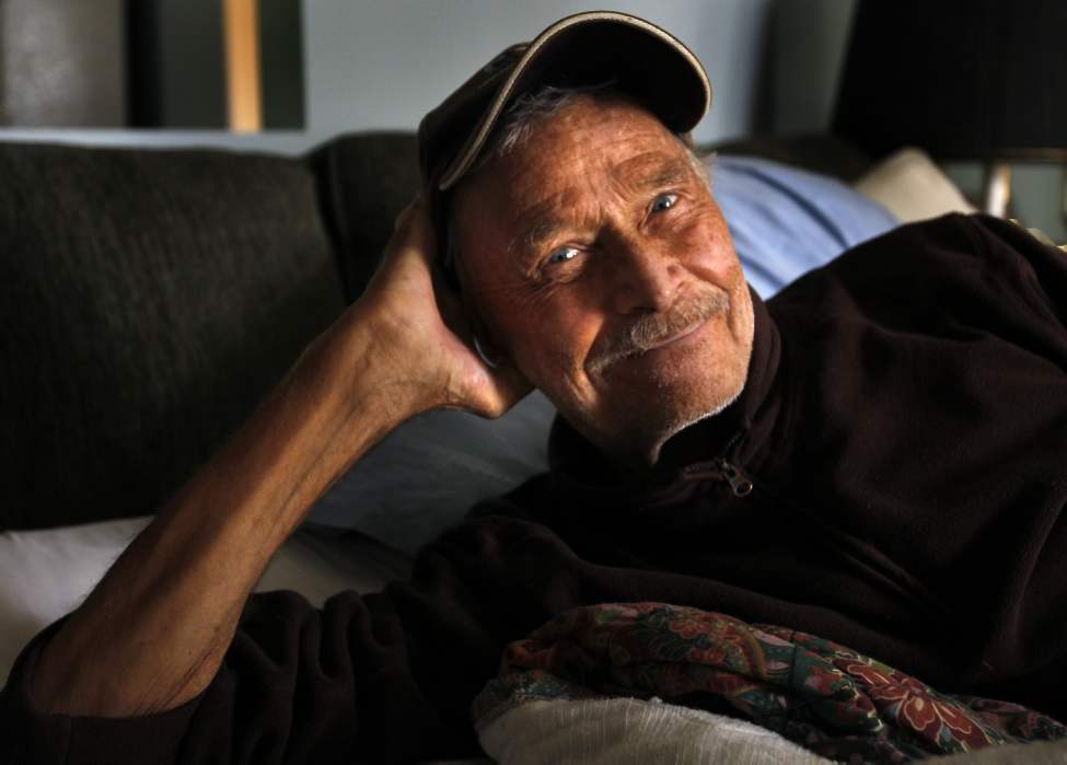 Winnipeg author and outdoor enthusiast Don Starkell recuperates in his home after being badly burned in his house last March. September 16, 2010 (Wayne Glowacki / Winnipeg Free Press)