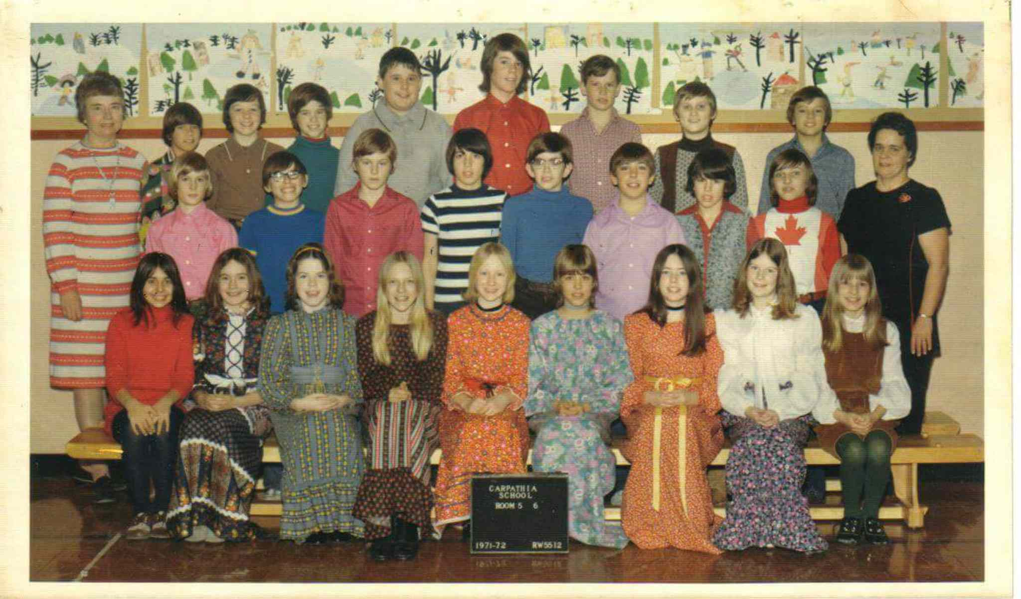 Steven Vincent (back row, third from left) and Allan Doern (middle row, far right) were classmates.