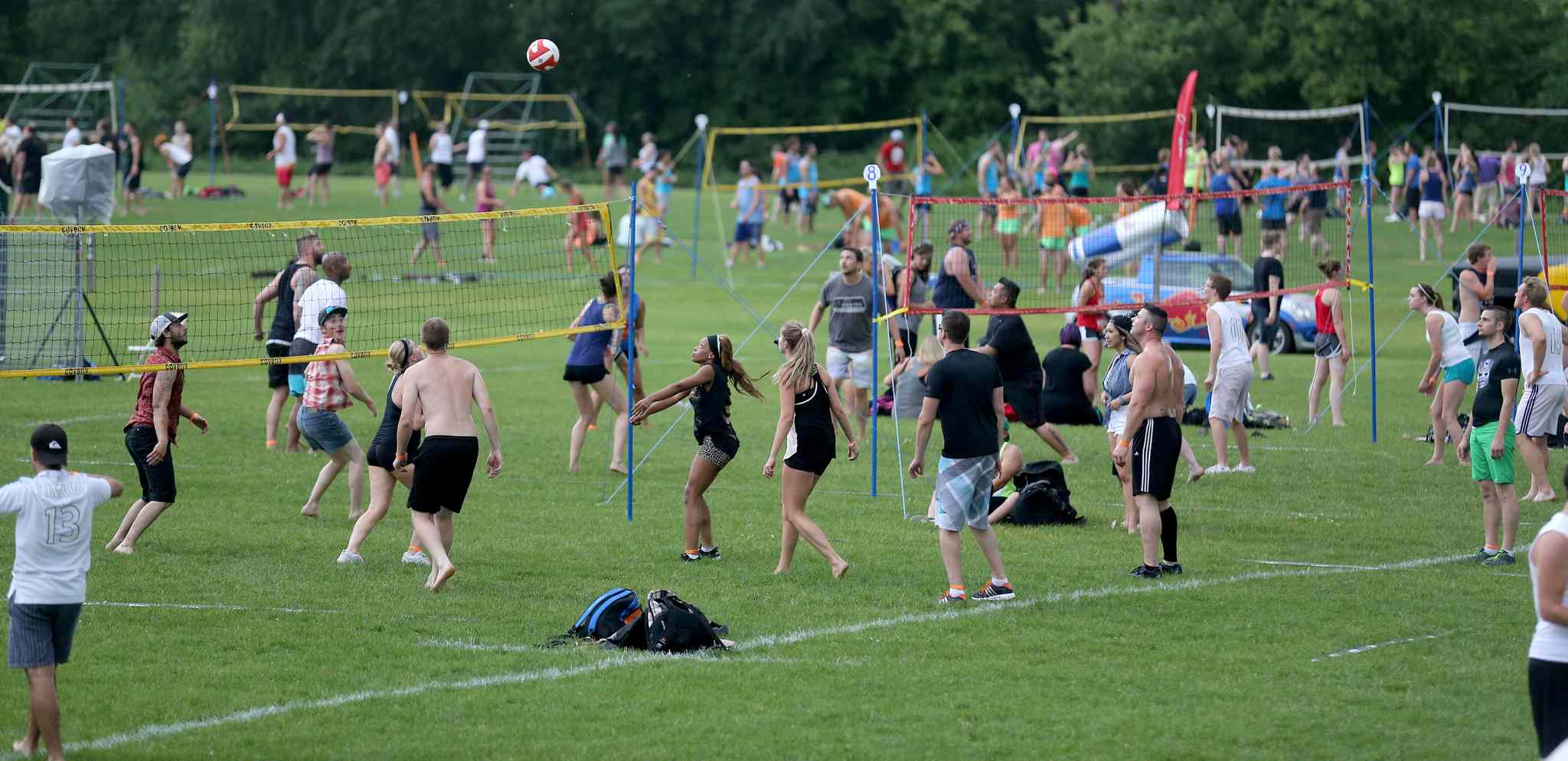 The Super-Spike volleyball tournament at Maple Grove Rugby Park, Friday, July 18, 2014.