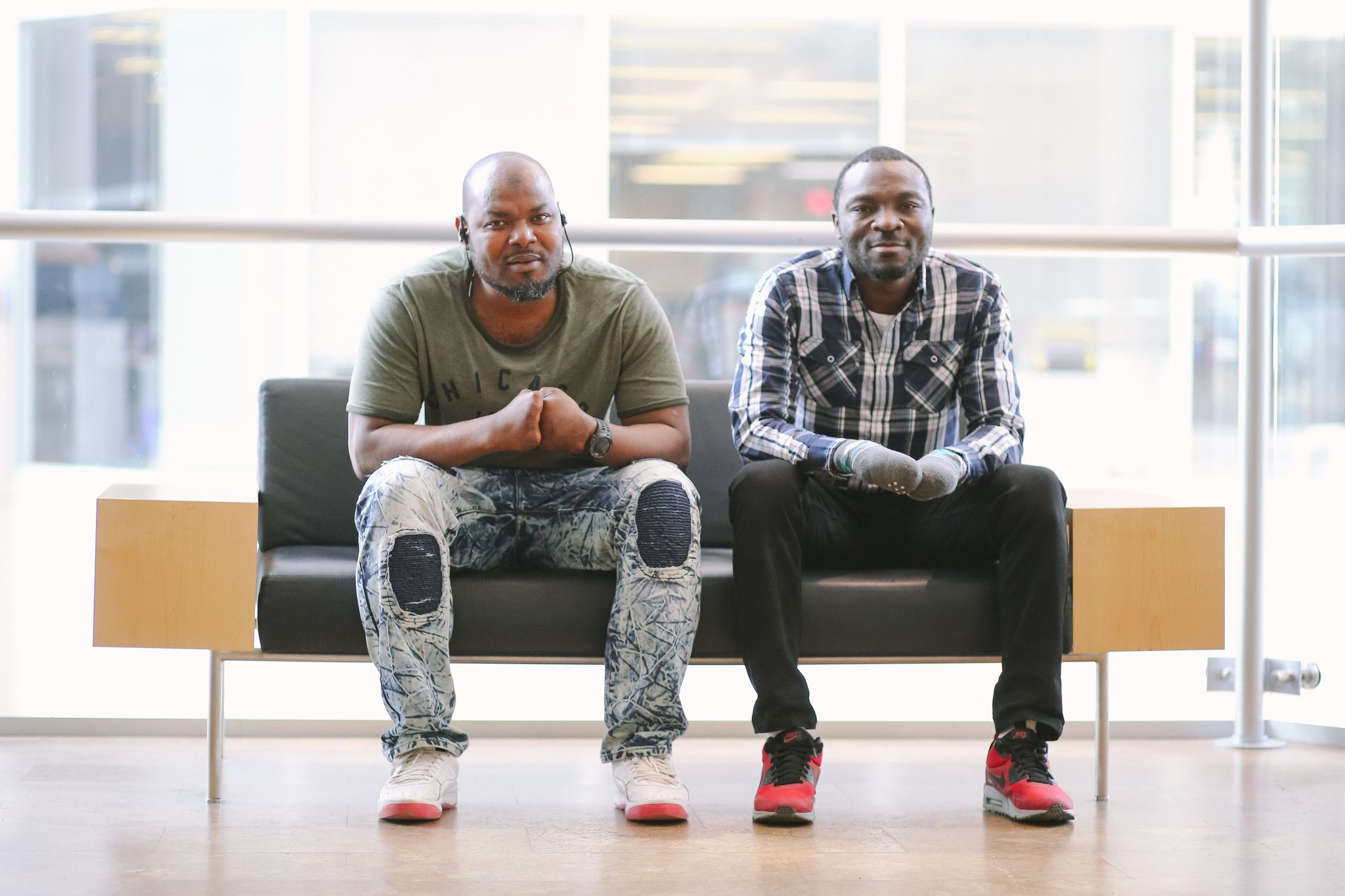 Asylum seekers Razak Iyal and Seidu Mohammed collaborated with One Trunk Theatre to write Boundary Avenue. Five dollars from each ticket sold will go towards establishing them in their new lives in Winnipeg.