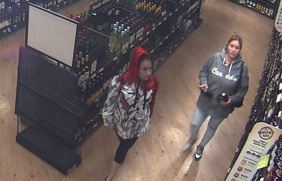 Two suspects are also being sought for a liquor theft incident on April 27.