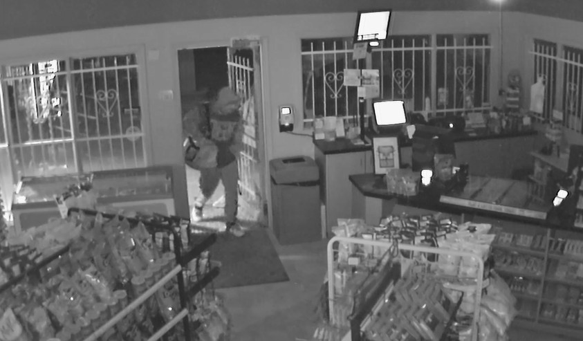 Police are looking for tips after a theft from the Husky gas station in Richer on April 25.