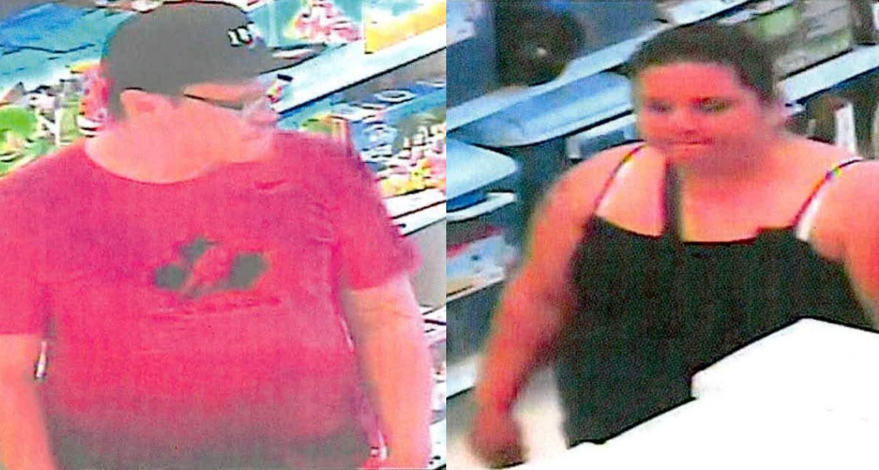 Police would like to identify a man and woman who allegedly stole from Superstore in Steinbach on June 18.