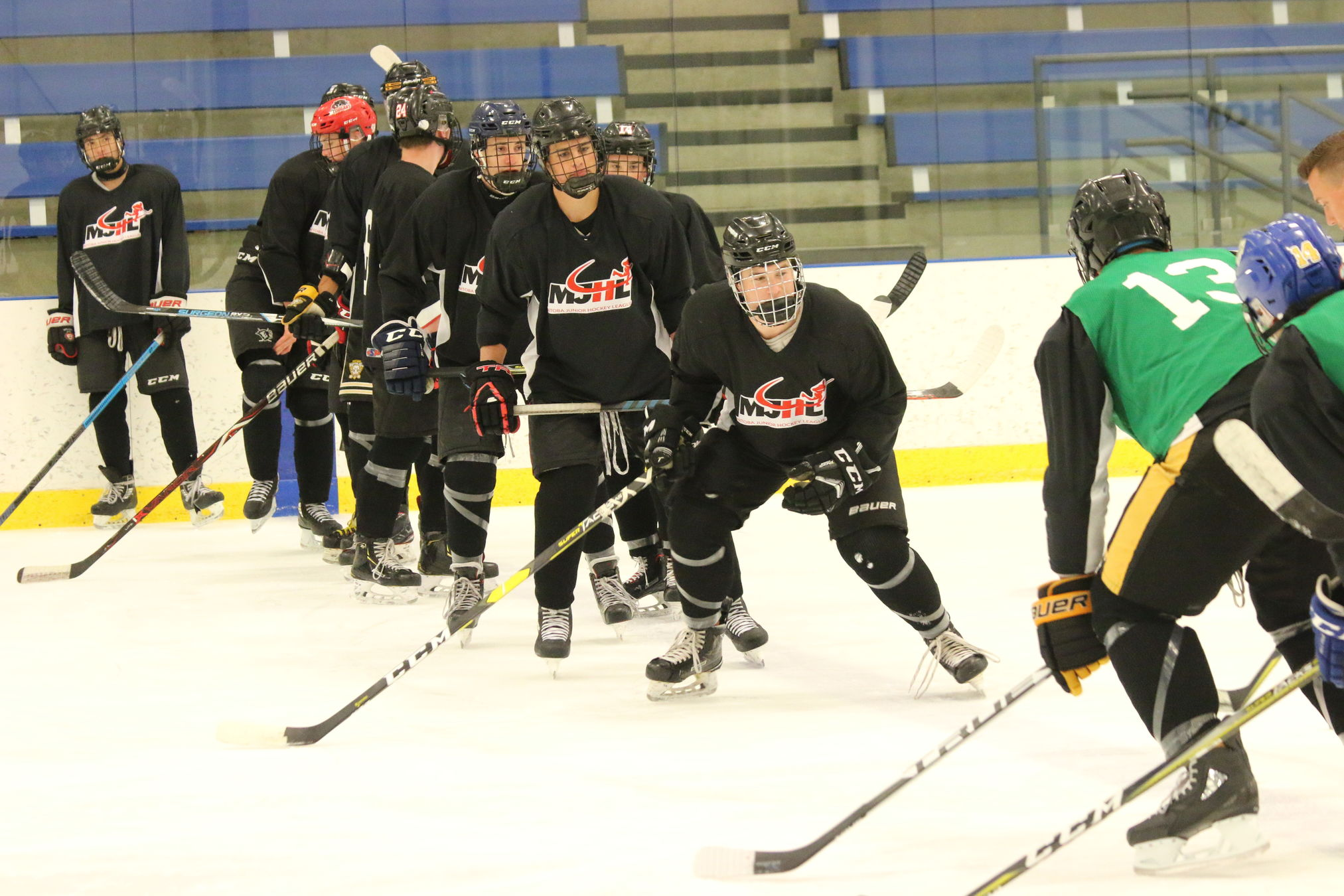 There were a tiotal of 76 players, including four prospects of the Steinbach Pistons that attended the third annual MJHL Prospects Development Camp at the Seven Oaks Sportsplex in Winnipeg last weekend.