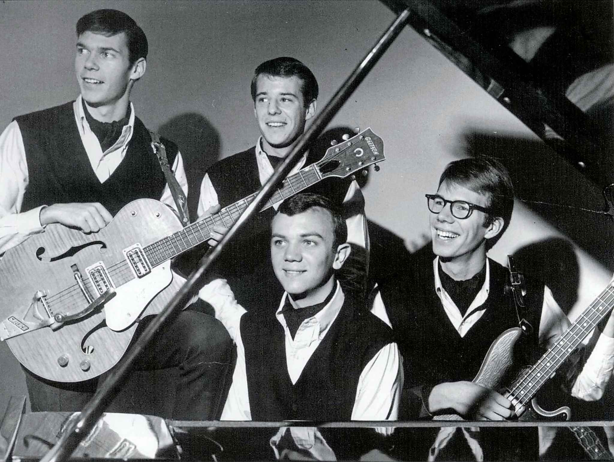 The Squires (clockwise from top left): Neil Young, Bill Edmundson, Ken Koblun and Jeff Wuckert. (The Canadian Press files)