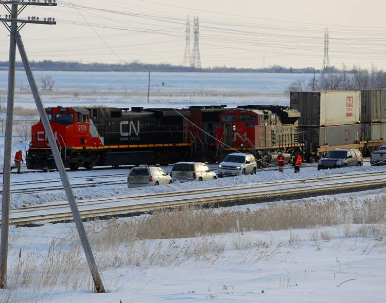 Train derailed this morning.