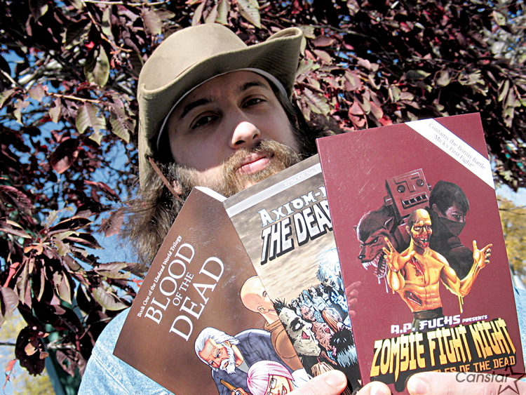 A.P. Fuchs, with some of the books that he has written, recently signed a deal with Los Angeles-based Hughes Capital Entertainment to turn some of his books into films, TV shows and video games.