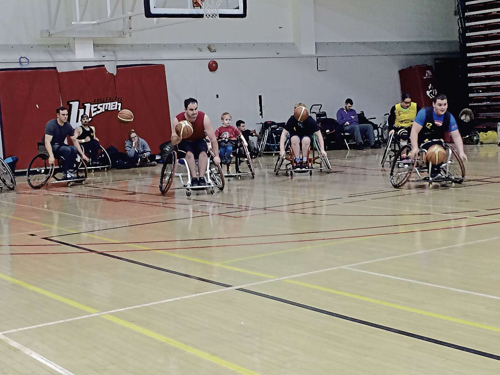 Members of Team Manitoba Wheelchair Basketball practise in preparation for the upcoming Canadian Wheelchair Basketball Championships in Kamloops, B.C.
