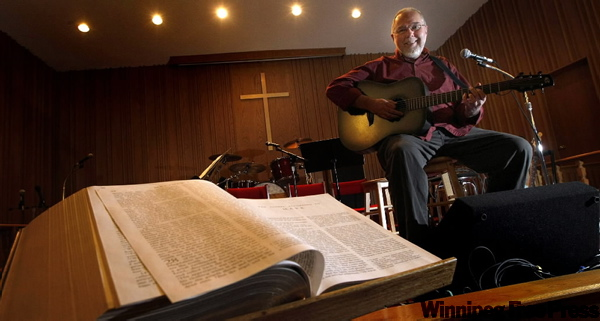 CJOB morning host Larry Updike will be preaching at Central Baptist Church this morning. He says he preached his first real sermon at age 16.