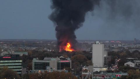 The fire seen from Osborne Village.