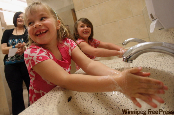 Students at Glenwood Public School in Windsor, Ont. are encouraged to wash their hands throughout the day and personal hygiene is a big part of their program.