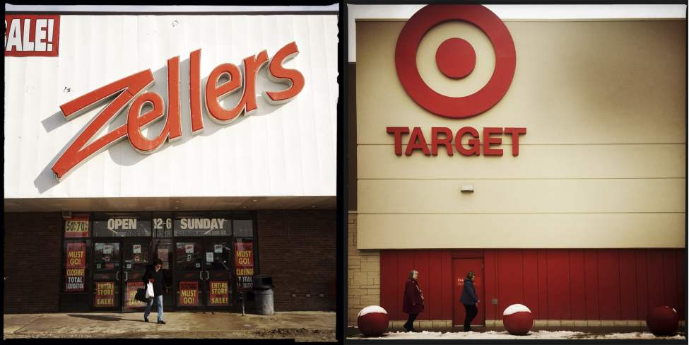 Zellers (February 12, 2013) / Target (March 23, 2015)